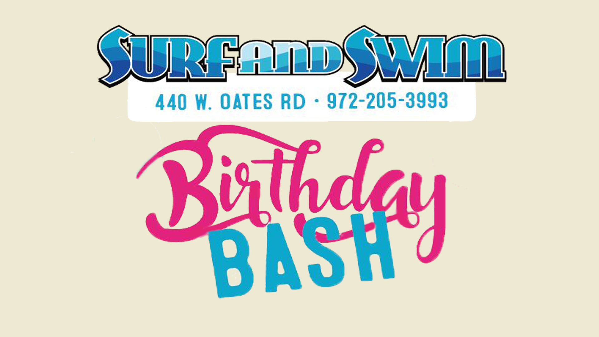 BirthdayBash-Cover image with location and phone number