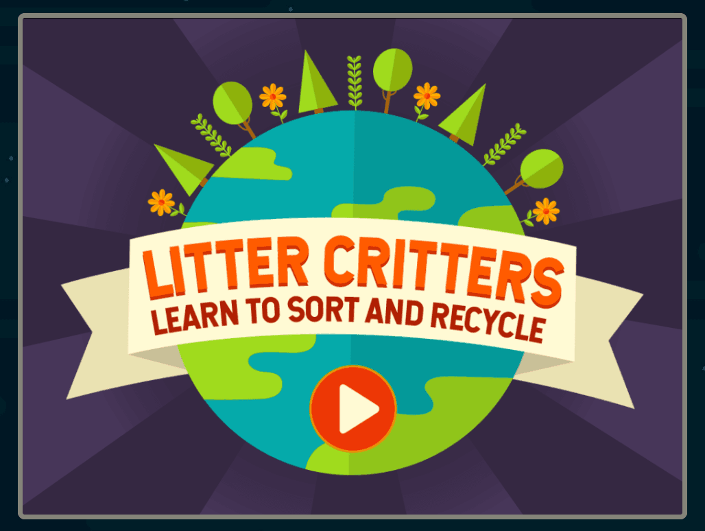 Screenshot of Litter Critters Game